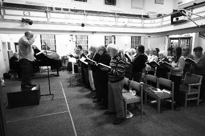 Singing at Witham URC